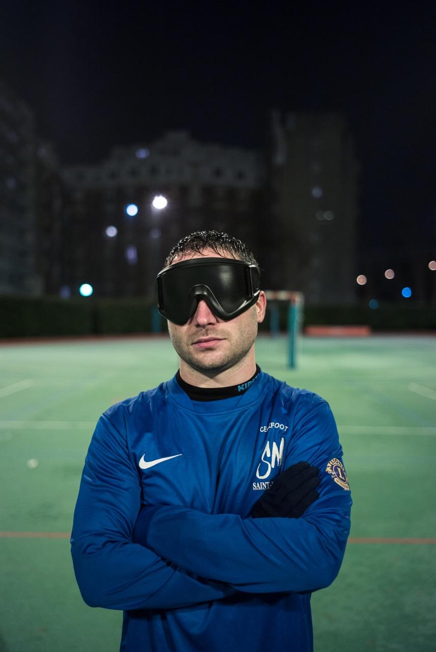Fabrice MORGADO, membre de l'équipe de France de cécifoot